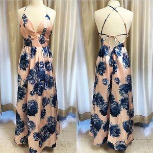 $125⬇️ Soueblu Dress Formal Semi Long Pink Blue